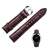 Fitian Replacement Leather Strap Watch Band Watchband Wristband for Moto 360 2 (2nd Gen Man 42mm), Gear S2 Classic, Pebble Time Round and Other Generic Watches (brown)
