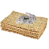 Grass Mat Woven Bed Mat for Small Animal Bunny