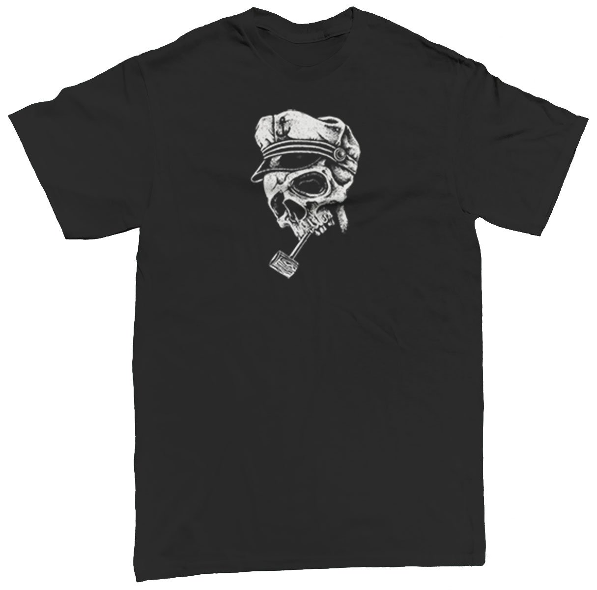 Skull With Captain Hat S T Shirt Apparel