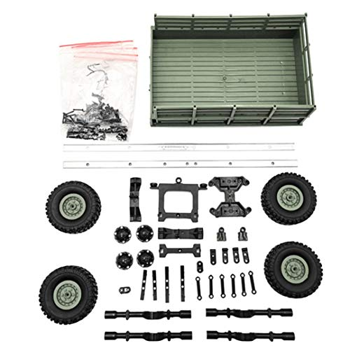 - Hisoul for WPL 1/16 Military Truck RC Car Plastic Metal Upgrade Trailer DIY Part Set (Army Green)
