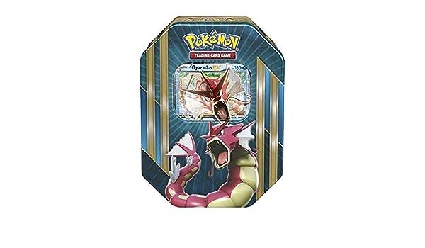 lote pokemon Caja Metalica Mewtwo en Ingles Contiene: 4 Sobres , una Carta de Tres Foil aleatoria, Entre: Mewtwo-ex,Shiny Gyarados-ex o machamp-ex