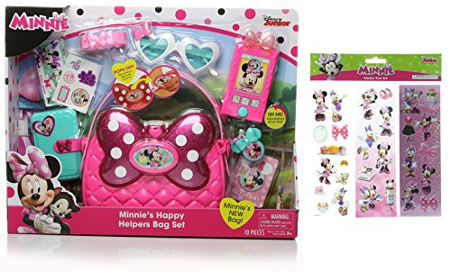 Minnie Mouse Happy Helpers Bag Set and Minnie Sticker Fun Set