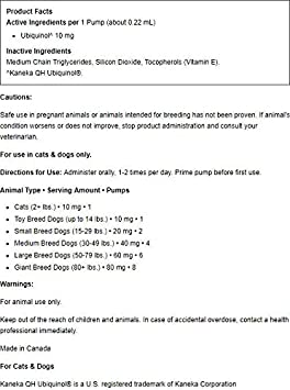 Healthy Pets Ubiquinol for Pets (54 ml) - Dr. Mercola: Amazon.es ...