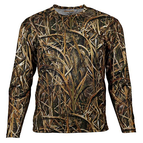 Gamehide Long Sleeve Lightweight Wicking Waterfowl Tshirt (Mossy Oak Shadow Grass Blades, X-Large)