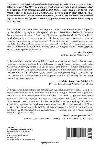 Ebook Komunikasi Politik