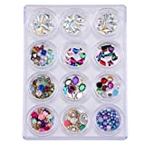 3d Glass Nail Art Charms alloy Jewelry Set Flat Pointed Back AB Rhinestones Mermaid Pearl Flowers Assorted set Supply