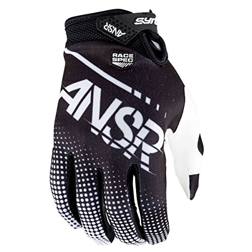 (Answer Racing A17.5 Syncron Air Boys MotoX Motorcycle Gloves - Black/White / Large)