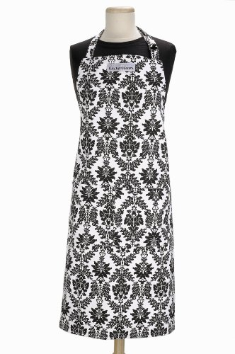 Ritz Kitchenwears Black Vintage Damask Print Apron