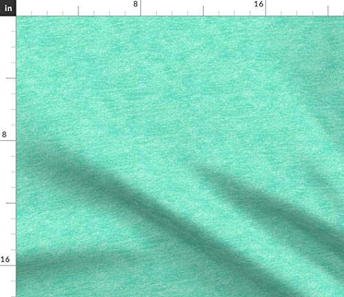 Spoonflower Aquamarine Fabric - Blue Green Crayon Texture Crayon Texture Background Green Aqua Robins Egg Blue Kids Bright by Weavingmajor Printed on Petal Signature Cotton Fabric by The Yard ()