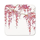 Cozy Seat Protector Pads Cushion Area Rug,House Decor,Cherry Blossom Trees Branch Springtime Happy