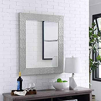 Naomi Home Mosaic Style Wall Mirror Silver