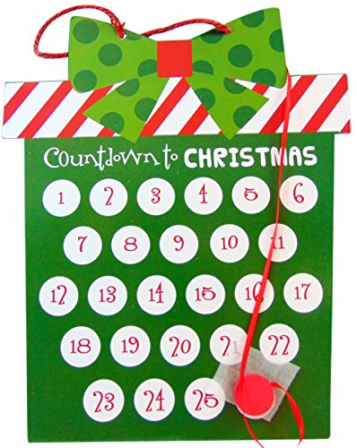 GiftCraft Countdown to Christmas Metal Advent Calendar Holiday Home Decoration