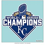 "MLB Kansas City Royals 2015 World Series Champion Color Decal, 8""x8"", Team Color"