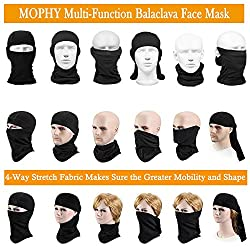 Balaclava Face Mask Men & Women, (2 Pack) Black Adjustable Windproof Ski Mask, Breathable Moisture Wicking Tactical Balaclava, Summer Sun Hood for Outdoor Sports,Cycling,Motorcycle,Hiking,Skiing