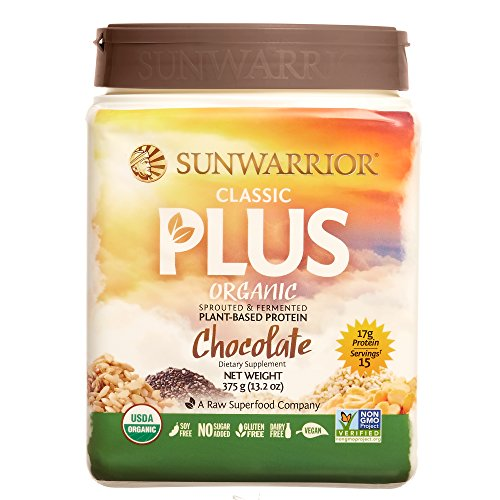 Sunwarrior Classic Plus, Raw Organic Plant Based Protein