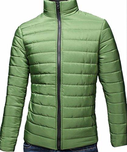 Waterproof Hot Puffer Green Coat Jacket Winter Down Zipper UK Lightweight Men Brd Down HrqfYHA