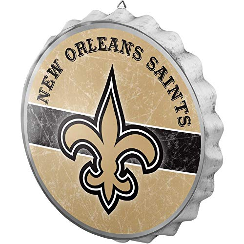 - FOCO NFL New Orleans Saints Metal Distressed Bottlecap Wall Signmetal Distressed Bottlecap Wall Sign, Team Color, One Size
