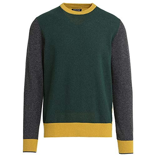 Block Color Maglione Woolrich Verde Sweater f6E7Exqw