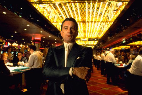 Robert De Niro as Ace Rothstein in Casino 24X36 Poster on gambling floor