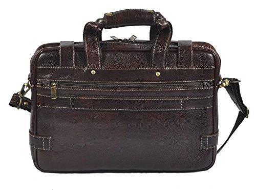 422 marrón de maletín auténtica Messenger bolso cruzado laveri bandolera portátil piel zFTqPPwC