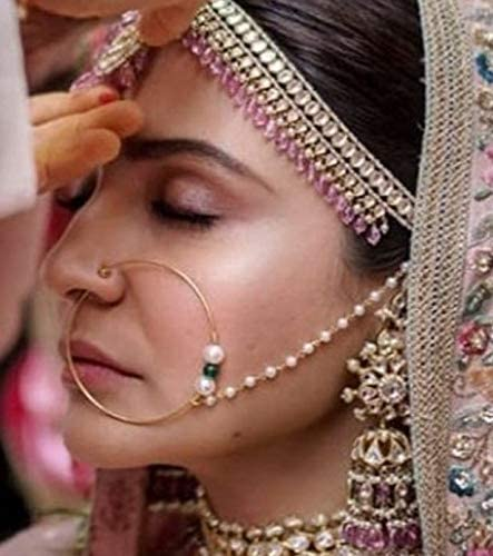 Amazon Com Indian Traditional Nath Bridal Jewelry Nose Pins