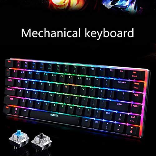 Ajazz AK33 82 Keys Mechanical Keyboard Russian/English Layout Gaming Keyboard RGB Backlight Switch Wired Keypad