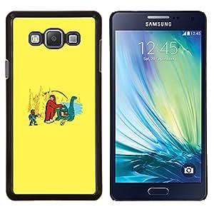"""Be-Star Único Patrón Plástico Duro Fundas Cover Cubre Hard Case Cover Para Samsung Galaxy A7 / SM-A700 ( Bigfoot y Loch Ness - Gracioso"""" )"""