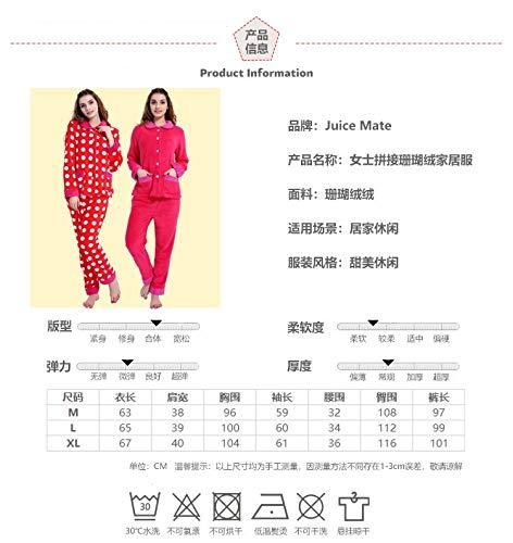Winter Comfortable sleeved Service Long 30 Pajamasx Coral M150 75kg Pajamas Warm Autumn Xxl164 Velvet And Wave 172cm Home Suit 65 50kg 162cm wxB8OvXqx