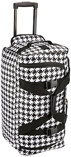 rockland-luggage-rolling-22-inch-duffle-bag-kensington-black-white-one-size