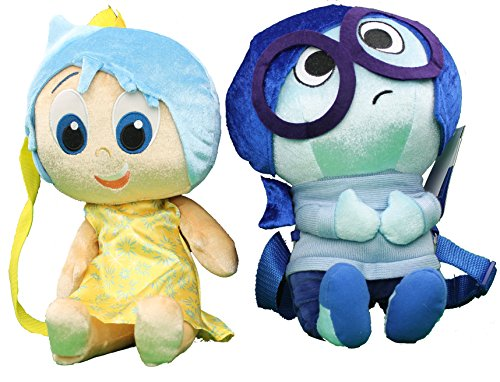 Inside Out's Joy and Sadness Plush Toy Backpacks (Girls Inside Out Joy Classic Costumes)