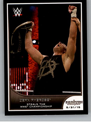 2016 Topps WWE Road to Wrestlemania #41 Dean Ambrose - Wins Elimination Chamber Match NM-MT (Best Elimination Chamber Matches)