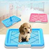 Miss.AJ unisex Dog Toilet Tray, Dog Training Toilet Portable Mesh Anti Skid Pet Litter Tray for Small Dog