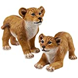 Design Toscano QM9287 Lion Cubs of The Sahara Animal Statues For Sale