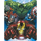 Avengers - Heroes Assemble Hulk Iron Man Capt America Thor 40x50 Mink Style Blanket in Gift Box