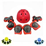 Kyпить Kiwivalley Kids Boys and Girls Outdoor Sports Protective Gear Safety Pads Set [Helmet Knee Elbow Wrist] for Scooter, Skateboard, Bicycle, Rollerblades (4-14 Years Old) (red) на Amazon.com