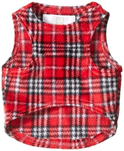 Karen Neuburger Women's Dog Minky Fleece Coat Holiday Matching , Red Plaid, Small