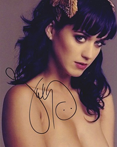 Katy Perry signed 8x10 photo