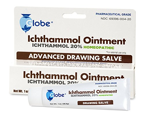 (Ichthammol Ointment 20%, (Drawing Salve) 1oz Tube (28.3g) Pharmaceutical Grade****)