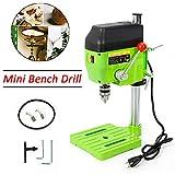 WUPYI Benchtop Drill Press,2-Speed Drill Press Workbench Drill Press Stand Mini Wood Drilling Machine,480W 11000RPM