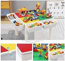 HIZLJJ Juego de Mesa De Actividades Múltiples 5 en 1 para Niños Mesa De Bloques Pequeños Juego de Mesa Juguetes Educativos para Niños Mayores de 3 Años tamaño 51 x 51 x