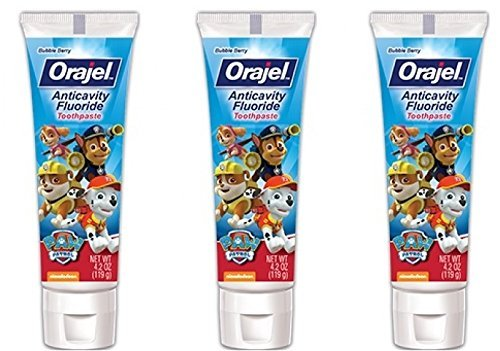 Orajel PAW Patrol Anticavity Fluoride Toothpaste 4.2 Oz (Pack Of 3)