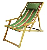 Hangit Cozy Relaxing wooden chair furniture for Home Garden (Summer Stripes)