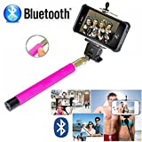 Selfie Stick iPhone 6 - Best Selfie Stick - Bluetooth Selfie Stick iPhone 7 6 6s Plus SE 5 5s 5c 4 4s - iPhone Selfie Stick with Remote (Pink) Monopod Extendable Pole Galaxy S8 S7 S6 S5 S4 - DaVoice
