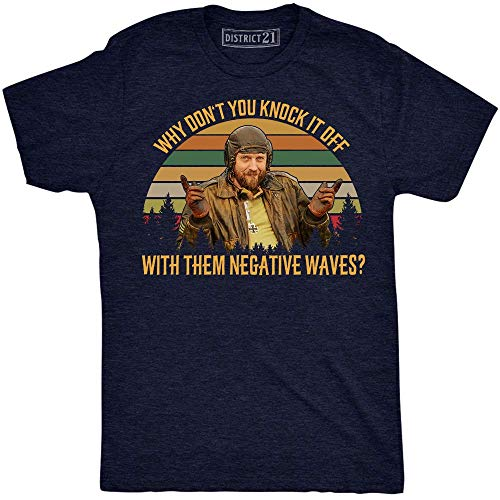 Why Don't You Knock It Off with Them Negative Waves Vintage Retro T-Shirt SGT. Oddball Kelly's Heroes Navy