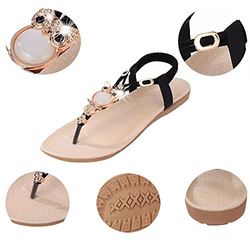 Sandals Shoes Thongs Bohemia Pt5 Flat Flops Beaded Donalworld Slippers Flip Beach UZwXxYWq
