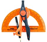 Helix Universal Locking Compass and Protractor Set,  Assorted Colors