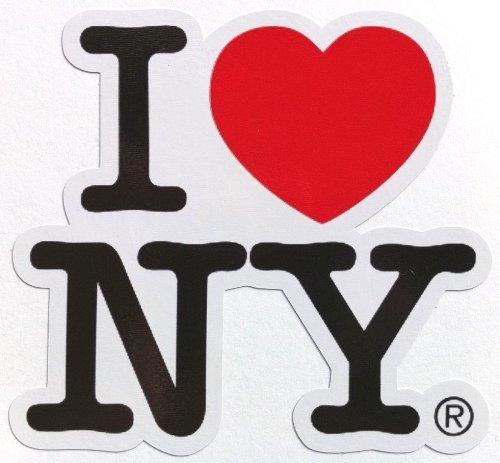 LandCAR Sticker I Love NY Border Type Waterproof Paper Seal (Japan Import) -