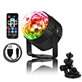 Zenic Sound Activated Party Lights with Remote Control, 4W 7 Lighting Color LED Portable Stage Strobe Ball Light USB Charge for Festival Home Wedding Birthday Decoration (colorful)