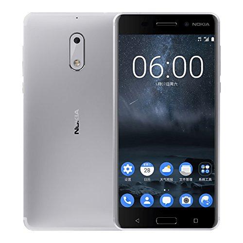 Nokia 6 (TA-1003) 4GB / 32GB 5.5-inches Dual SIM Factory Unlocked - International Stock No Warranty (Silver)