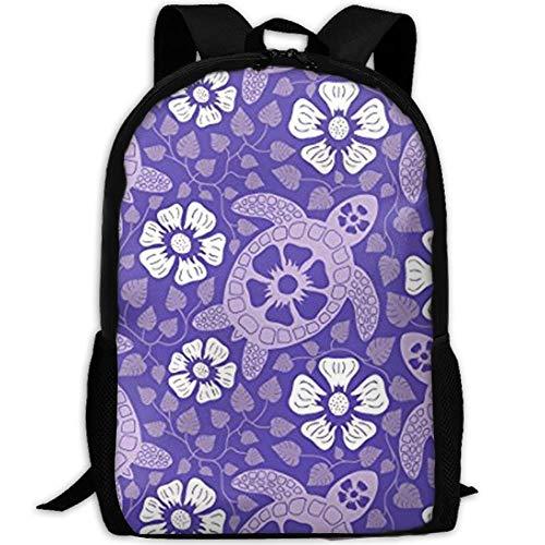 DKFDS Backpacks Turtles In Purple School Backpack for Girls Teens Bookbag Cute School Bag Set Water Resistant Travel Daypack